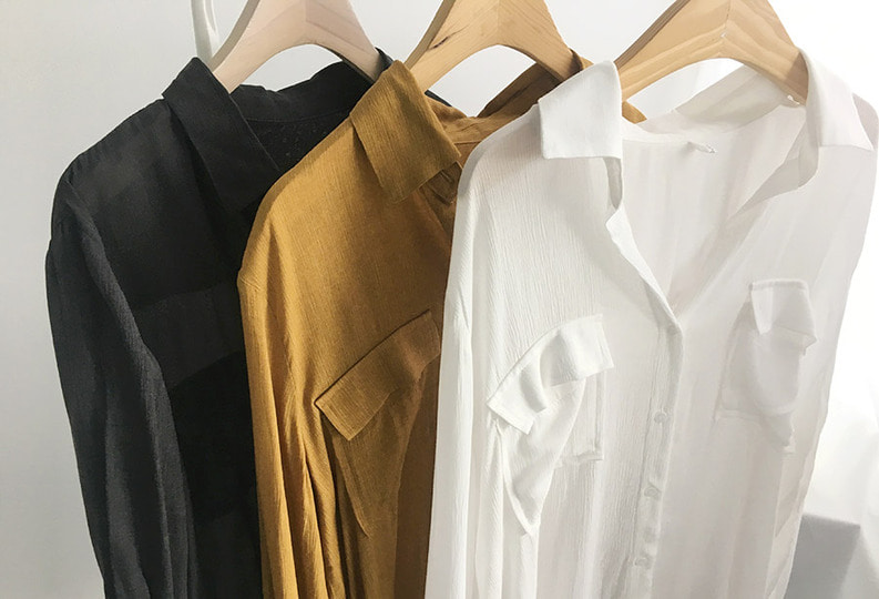 *tender see-through blouse (3 colors!)