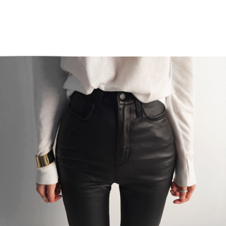 highwaist coating skinny[L size]