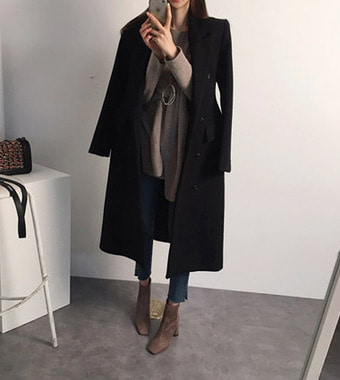 balen slim long coat (2colors!)