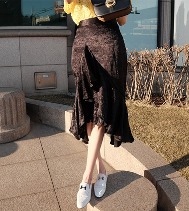 shining flare skirt (3colors!)[ black 당일발송 ]
