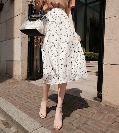 leaf flare skirt(2colors!)  [ivory,s]