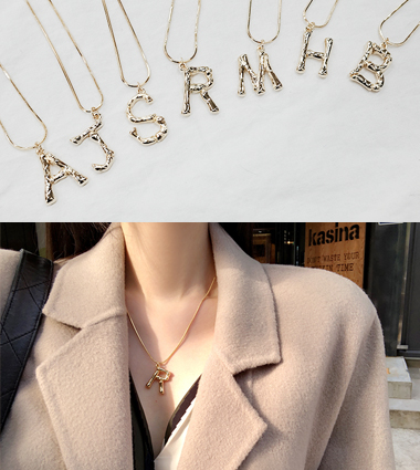 initials necklace (7type)